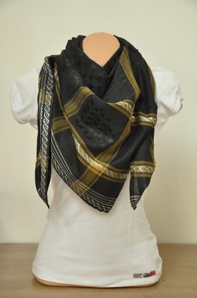90429939af3 Palestina šátek černý se zlatou - SLEVA 25 % empty