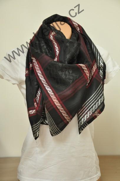 Palestina šátek černý s červenou  7a88859485