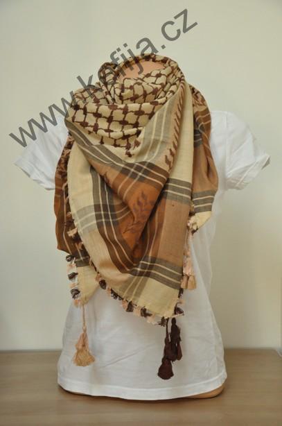 Palestina šátek hnědý - SLEVA 40 %  fedf7c83c1