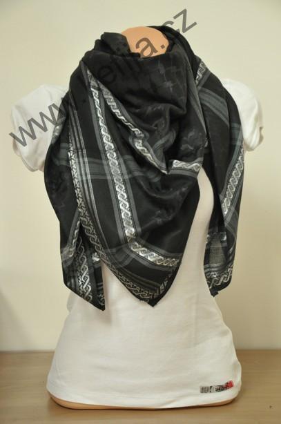 Palestina šátek černý s šedou  594b21ab30