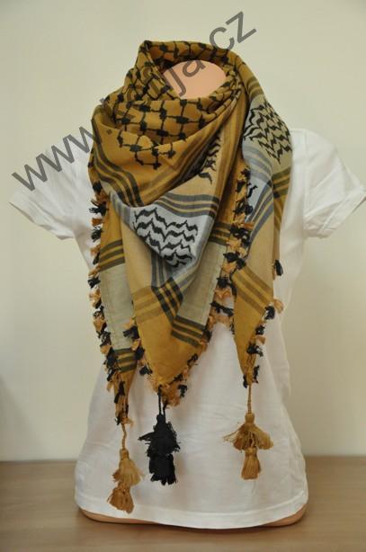 Palestina šátek okrovo-šedý  7d65e94766