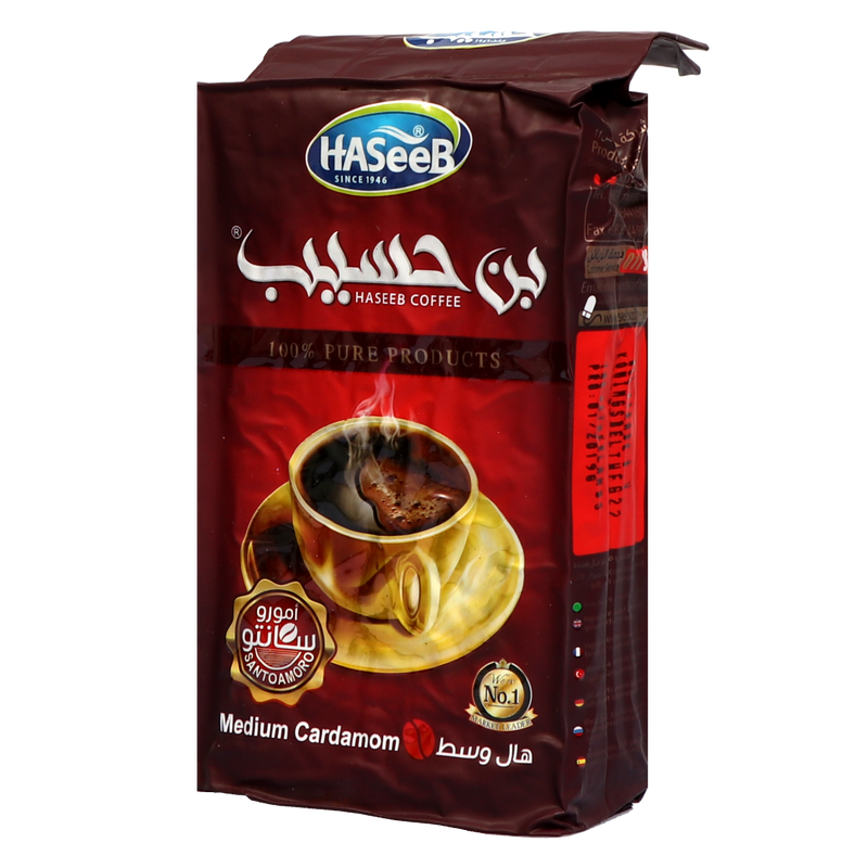 Káva HASeeB Cafe - Medium Cardamom, 500 gr
